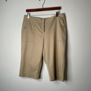Izod xfg brown long golf shorts size 10 tan khaki
